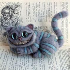 Купить Чеширский Кот - серый, чешир, кот, чеширский кот, алиса, алиса в стране…