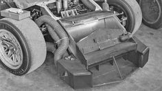Eric della Faille documents the 1967 iteration of the Chaparral 2D. The revised nose provides ducting for brake and cockpit cooling. Typically tidy and carefully fabricated.