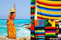 Packing tip for Cancun: pack a colorful sarong to take with you and get a colorful blanket to bring back. barretttravel.globaltravel.com pamelabarrett22@gmail.com