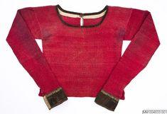 Spedetröja i ull, dekorerad med smmetsband; Vemmenhög, 1800-tal. Malmö Museer, nr MM 004833:001