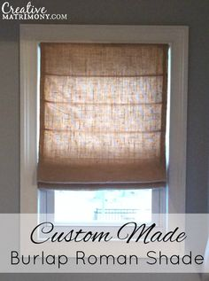 Custom Made Flat Front Burlap Roman Shade by CreativeMatrimony
