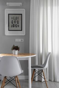 Apartment Designed By Maxim Tikhonov Interior Among Small Dining Space Used Wooden Table Also Grey Chair Furniture under Modern Touch 1