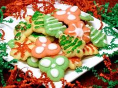 cookie press recipe, spritz cookies, cream cheese, holiday, christmas, receipts - © 2012 Peggy Trowbridge Filippone, licensed to About.com, Inc.