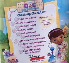 doc mcstuffins check up list