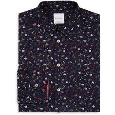 f119557bcb4671 Paul Smith Hand-Drawn Floral Slim Fit Dress Shirt (16.750 RUB) ❤ liked ·  Mens ...