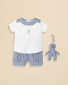 Jacadi Infant Boys Gingham Top and Shorts Set - Sizes 1-12 Months | Bloomingdale's