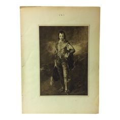 Antique 1901 Mounted Photogravure on Paper