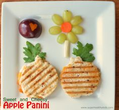 Great lunch idea for kids!  Sweet and Cheesy-Apple Panini | superhealthykids.com
