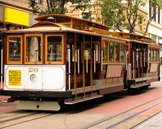 The Cable Car is high on the list of San Francisco attractions every visitor should experience. These San Francisco Cable Cars are antique streetcars that are still in operation. You can tour San Francisco and travel to the exciting San Francisco waterfront on one of two routes that goes to Fishermans Wharf and Pier 39.