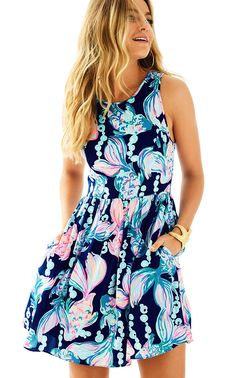 Check out this product from Lilly - Kassia Fit & Flare Dress  https://www.lillypulitzer.com/product/dresses/kassia-fit-flare-dress/c/38/9460.uts