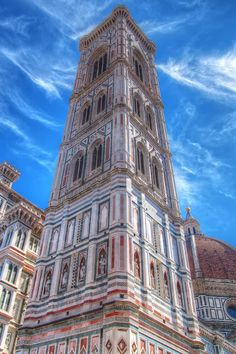 Campanile di Giotto - Florence {climb 414 steps for a great view of the city} beautiful church Florence Cathedral, Italy Vacation, Great View, Adventure Travel, City, Firenze, Florence Italy, Santa Maria, Hdr