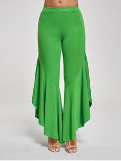 Shop for 2018 Flounce Panel High Waist Palazzo Pants in GREEN S online at $13.11 and discover other cheap Pants at Rosegal.com Mobile