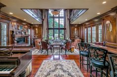 Library   Stunning High Country English-Inspired Home and Horse Farm in Ligonier   Photo Credit: Finite Visual via Christie's International