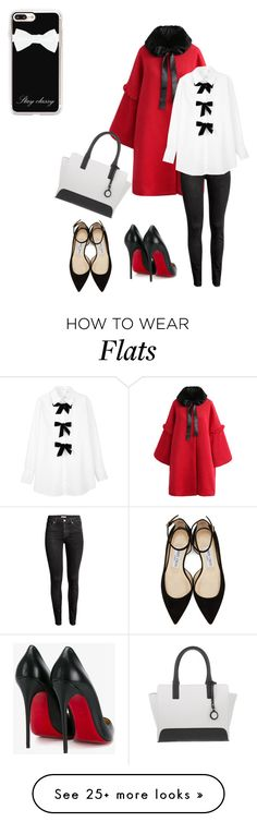 """""""Stay Classy"""" by absolutely-amy on Polyvore featuring Chicwish, Armani Jeans, H&M, See by Chloé, Christian Louboutin, Jimmy Choo and Casetify"""
