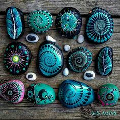#YuliaArtDots #paintedstones #rocks #pebbles #stones #turquoise #metallic #paint #spiral #dots #dotting #spiral #myart#art #dowhatyoulovewithpassion #nooneperfect