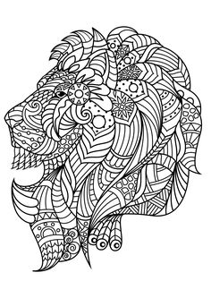 Adult Coloring Page Horse Zentangle Doodle Coloring Book Page For Adults Digital Illustration