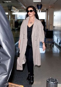 Catherine Zeta Jones Wool Coat - Catherine Zeta Jones Clothes - StyleBistro