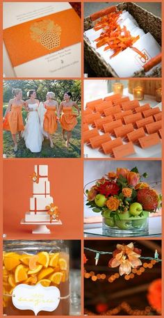 Orange Sherbet Wedding Inspiration Board - All Things For All Parties