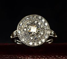 One more thing before I go…  I bought this this morning. It's one of the sharpest looking cluster rings I've ever seen. Platinum and old European cut diamonds dating to around 1910. More details when I return.   We'll reopen on August 29th.  (sold)