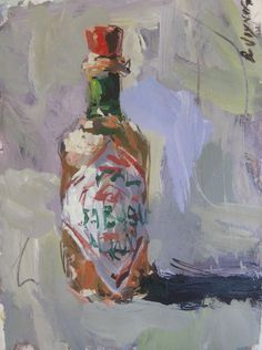 Robert Joyner contemporary Tabasco sauce still life painting