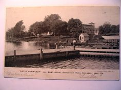 Hotel Conneaut & Boat Dock Exposition Park Conneaut Lake PA 1908 | eBay