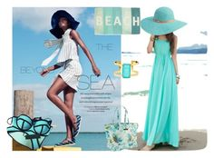 """""""Enjoy the summer"""" by azra-90 ❤ liked on Polyvore featuring Kate Spade, Betmar, Isaac Mizrahi, Thro and Triangl"""
