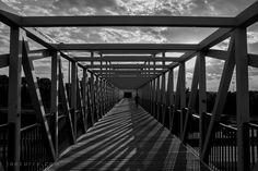 Foot Bridge, Loring Park to Minneapolis Sculpture Garden (in black & white)