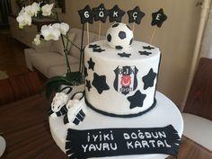 #yavru Kartal  #bjk doğum günü pastası #siyah beyaz pasta