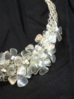 Recycled plastic bottles necklace in plastics jewelry accessories  with Plastic Necklace Jewelry