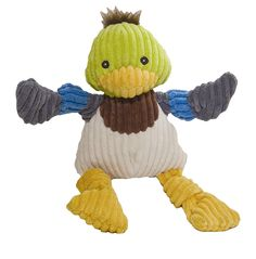 HuggleHounds Plush Corduroy Durable Knotties Duck Dog Toy *** To view further for this item, visit the image link.