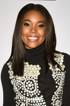 Gabby Union chic hair cut and flawless glow