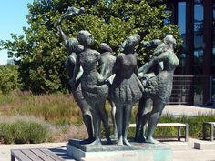 'Seven proud sisters kissed by one sea' in Rostock, Germany Saxony Anhalt, Rhineland Palatinate, Lower Saxony, North Rhine Westphalia, Baltic Sea, Bavaria, Sisters, Castle, Germany
