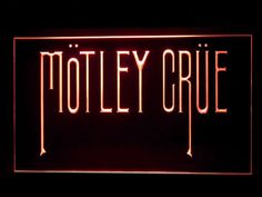J638R Motley Crue Bar Pub Sport Game Champion Star Ball Light Sign #New