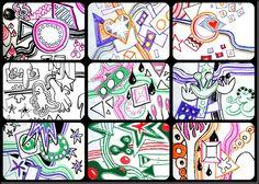 Hip hop Kandinsky murals. Link also has K. video