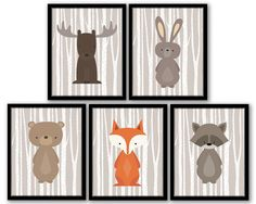 Woodland Nursery Art Woodland Nursery Decor by SeventeenFields