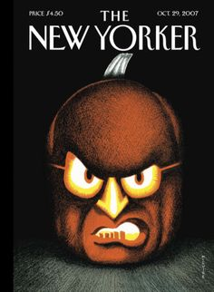 """The New Yorker - Monday, October 2007 - Issue # 4236 - Vol. 83 - N° 33 - Cover """"Happy Halloween!"""" by Richard McGuire The New Yorker, New Yorker Covers, Vintage Comic Books, Vintage Comics, Vintage Magazines, Lp Cover, Cover Pages, Cover Art, Magazines For Kids"""