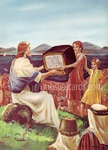 """From the talented Francesca Berrini - """"I was just so proud that the TV had a picture of santa on it."""""""