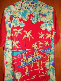 Art Vogue - 40s FULL PANEL Rayon Vintage Aloha Shirt - TheHanaShirtCo