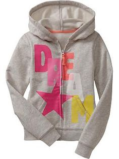 Girls Graphic Zip-Front Lightweight Hoodies | Old Navy