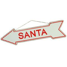 Point Santa Claus in the right direction this christmas eve, to ensure that he delivers all your christmas gifts correctly! Christmas Eve, Christmas Gifts, Christmas Decorations, Metal Signs, Vintage Style, Santa, Xmas Gifts, Christmas Presents, Metal Panels