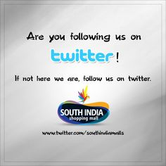 South India Shopping Mall is now available on #Twitter! Just click this link to follow us - www.twitter.com/southindiamalls Visit – www.southindiaeshop.com