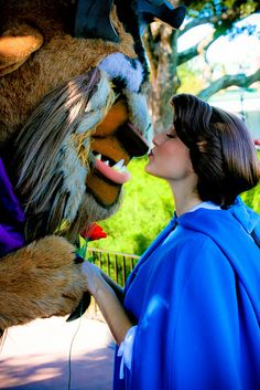 Belle and the Beast :) I can't wait to meet them both at Disney World, someday!
