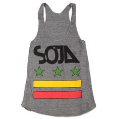 SOJA - Grey Stars & Bars Women's Tank