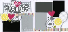 I Love Tennis Page Kit