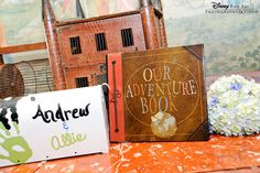 Up-inspired guestbook table #Up #Disney #wedding