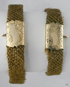 victorian mourning bracelets made from hair