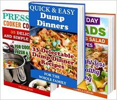 98 Best Recipes BOX SET 3 IN 33 Delectable Dump Dinner Recipes + 35 Simple Pressure Cooker Recipes + 30 Amazing Salad Recipes: (Cooking Light, Recipe . Quick Cooking, Easy Cooking, Diets) by Imogen Brown Best Recipe Box, Recipe 30, Cooking Light Recipes, Easy Cooking, Dump Dinners, Weight Loss Smoothie Recipes, Diet Reviews, Dinner Salads, Pressure Cooker Recipes