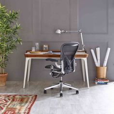 Buy Herman Miller Aeron Office Chair, Graphite/Polished Aluminium, Size C, x x from our Office Chairs range at John Lewis & Partners. Bubble Lamp, Eames, Home Office, Office Desks, Conference Room Chairs, Herman Miller Aeron Chair, Chair Pictures, Cool Chairs, Desk Chairs
