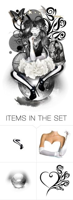 """B&W Dreams ^TS"" by rosie305 ❤ liked on Polyvore featuring art"