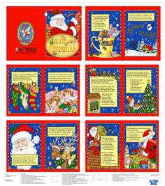 Holiday Inspirations Fabric Mary Engelbreit Night Before Christmas 36'' Panel